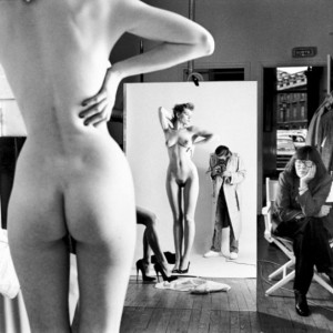 Helmut Newton, Self-Portrait with Wife and Models, Vogue Studio, Paris, 1981